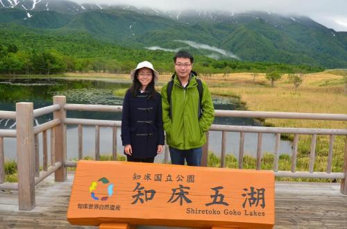 07-知床五湖-我与妹子